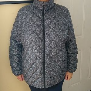 Grey packable down jacket